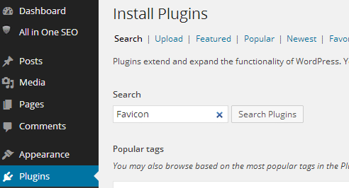 Search Favicon Plugin