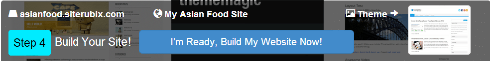 Step #4: build a website