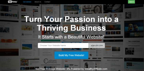 how to create website with wordpress - Siterubix homepage