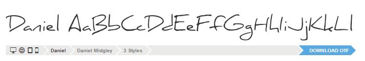 Font Daniel example