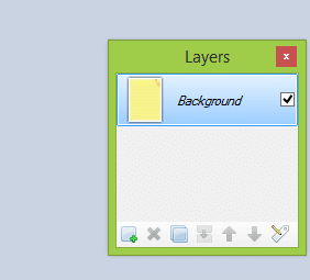Paint.net layers window