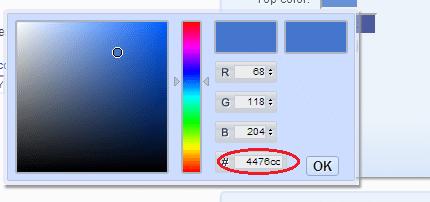 Da Button change top color