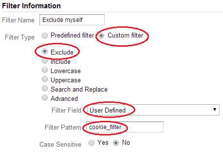Exclude visits by cookie custom value