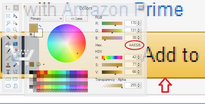 Paint.net color picker border color