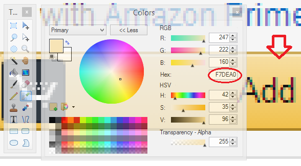 Paint.Net color Picker tool