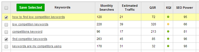 how-to-find-low-competition-keywords-jaaxy-result
