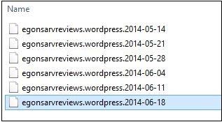 Create wordpress backup files