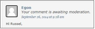 This is my comment without avatar
