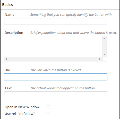 The only field that you need to fill when creating Call to Action buttons