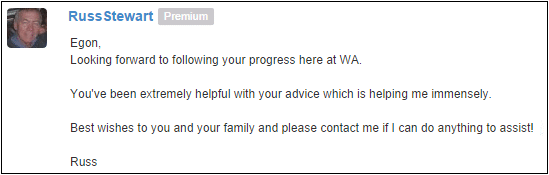 This kind of encouragement I have received from WA community