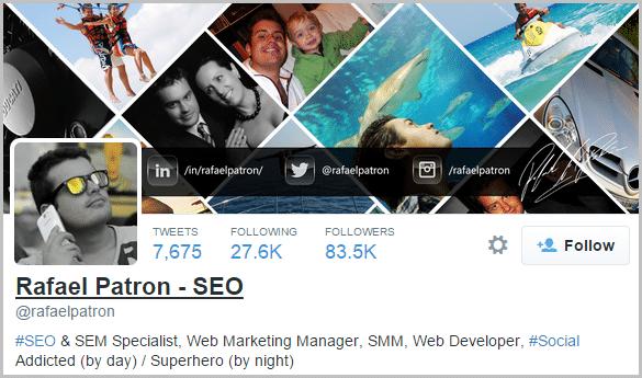 Rafael Patron Twitter profile