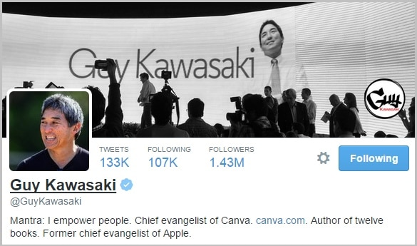Guy Kawasaki Twitter bio