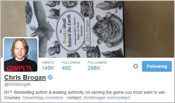 Chris Brogan Twitter Bio