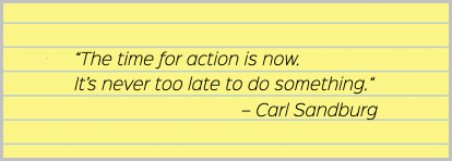 Time management quote by Carl Sandburg