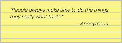 Anonymus quote about time management