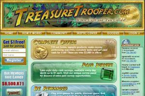 Treasure trooper surveys - homepage