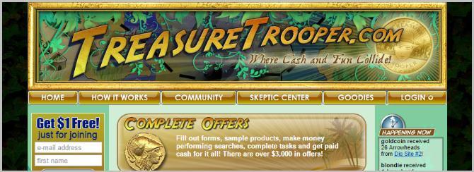 Treasure Trooper - Earn Cash Survey Site