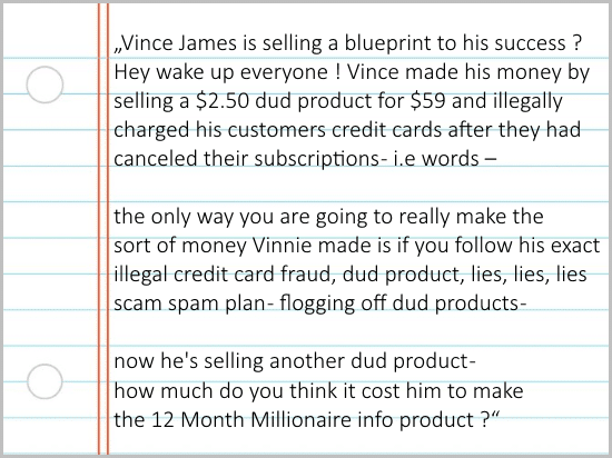 Why you should avoid Vincent James' info product