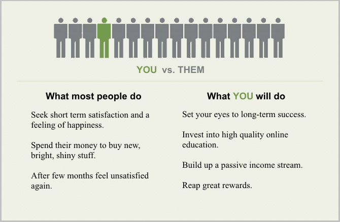 you vs them, action