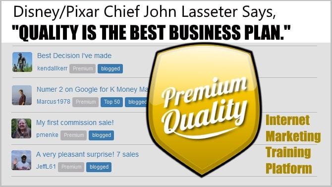 "Disney/Pixar Chief John Lasseter Says: ""Quality is the best Business Plan."""