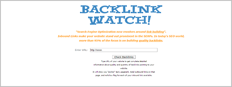 Find competitors backlinks - Backlink Watch - Free backlink checker tool