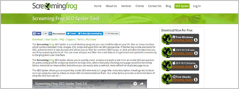 Screaming Frog SEO Spider Tool & Crawler Software