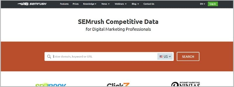 Semrush - powerful suite for SEO and internet marketing