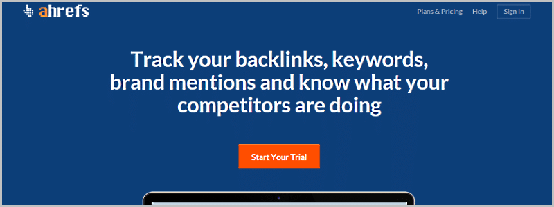 Find competitors backlinks - Ahrefs backlink checker tool
