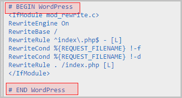 change url WordPress - writing 301 redirects into htaccess