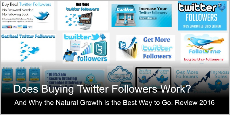 Does Buying Twitter Followers Work – Detailed Review 2016