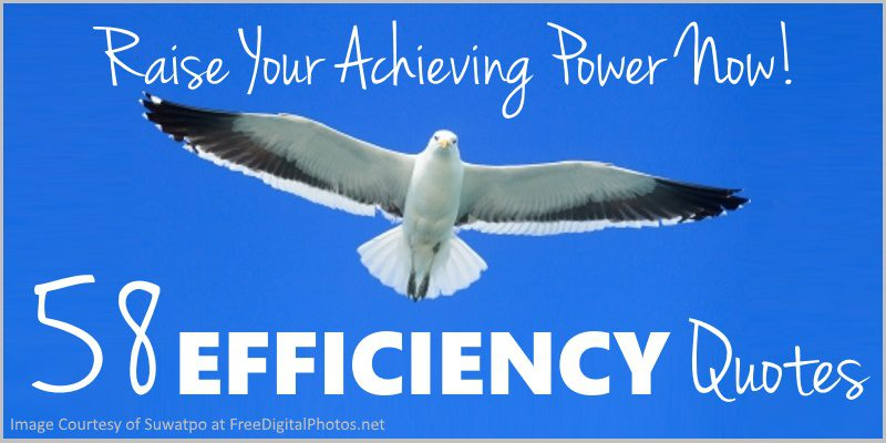 58 Work Efficiency Quotes – Raise Your Achieving Power Right Now