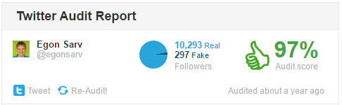 how many fake followers egon has