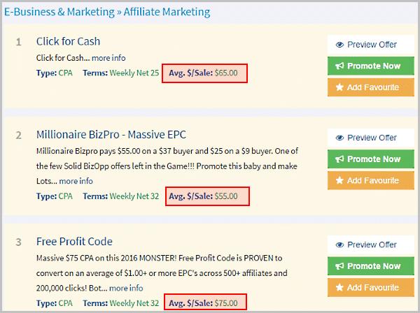 Examples of Clicksure Vendors