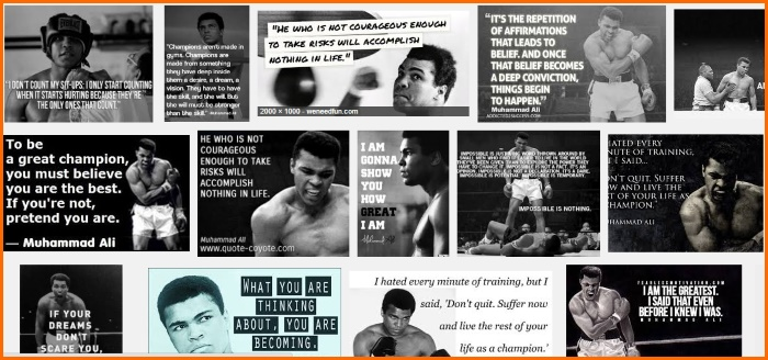 google image search - muhammad ali famous quotes