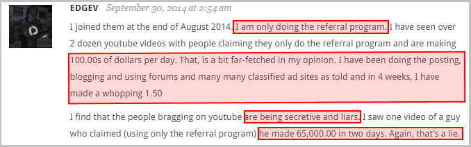 Many who promote Project Payday, in fact outright lie