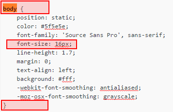 Here you can change the font size of your wordpress paragraph style