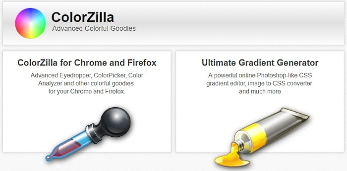 Colorzilla eyedropper and gradient generator