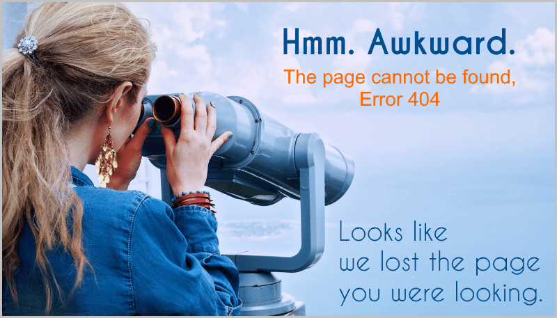 Error 404 - the page could not be found.