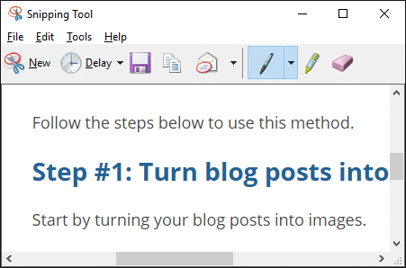 How to use Windows snipping tool