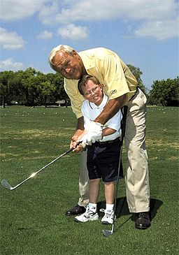 "famous Arnold Palmer quotes - ""The King"" of golf and a child"