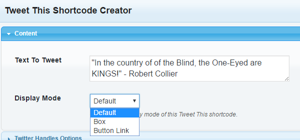 How to use Tweet This Shortcode creator