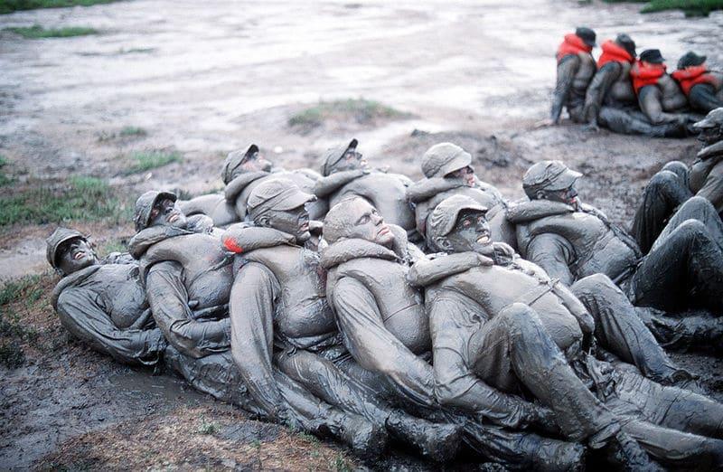 BUDS Trainees mud