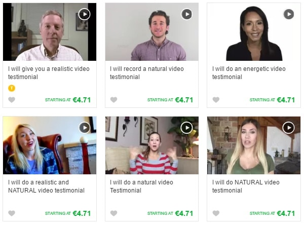 with less than $5 you can buy a fake video testimonial from Fiverr site