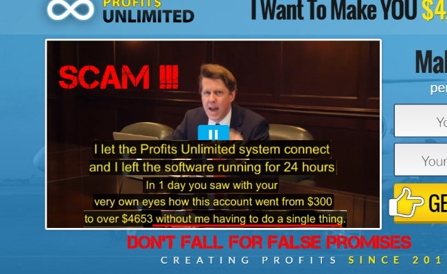 what is the profits unlimited scam - false promises