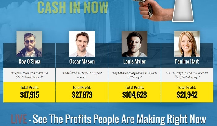 hoax testimonials of Profits Unlimited