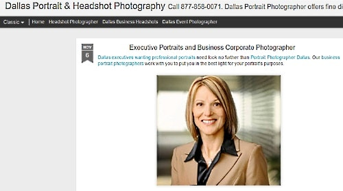 Profits Unlimited testimonial photo taken from Dallas Photography website