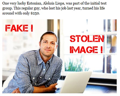 Aleksis Liepa image is stolen from the internet