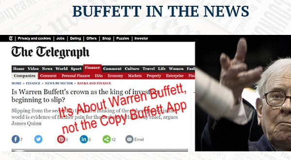 what is copy buffett software about