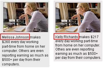 Melissa Johnson and Kelly Richards are the same bogus mom
