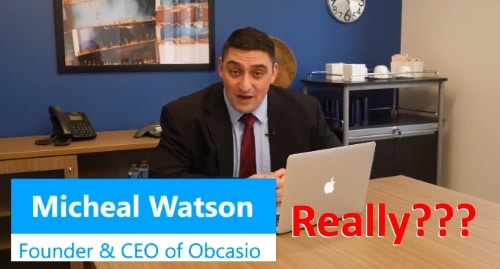 fake Michael Watson, the CEO of Obcasio